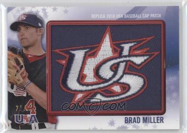 2011 Bowman Replica 2010 USA Baseball Cap Patch #USA-35 - Brad Miller /25