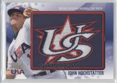 2011 Bowman Replica 2010 USA Baseball Cap Patch #USA-4 - John Hochstatter /25
