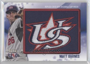 2011 Bowman Replica 2010 USA Baseball Patch #USA-23 - Matt Barnes /25