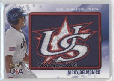 2011 Bowman Replica 2010 USA Baseball Patch #USA-3 - Nick Delmonico /25