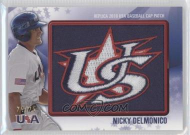 2011 Bowman Replica 2010 USA Baseball Patch #USA-3 - Nicky Delmonico /25
