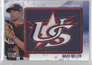 2011 Bowman Replica 2010 USA Baseball Patch #USA-35 - Brad Miller /25