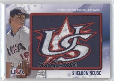 2011 Bowman Replica 2010 USA Baseball Patch #USA-57 - Sheldon Neuse /25