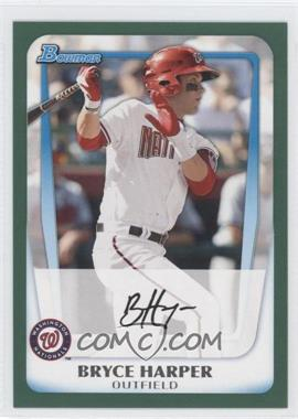 2011 Bowman Retail Prospects Green #BP1 - Bryce Harper /450