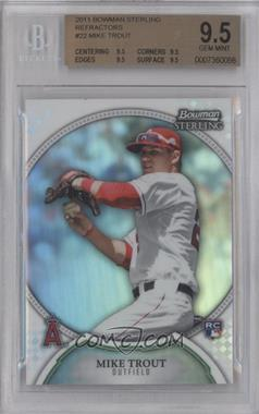 2011 Bowman Sterling - [Base] - Refractors #22 - Mike Trout /199 [BGS 9.5]