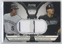 Carlos Gonzalez, Mike Stanton /25