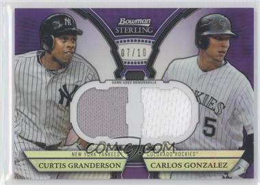 2011 Bowman Sterling - Box Loader Dual Relics - Purple Refractors #DRB-GG - Curtis Granderson, Carlos Gonzalez /10