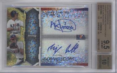 2011 Bowman Sterling - USA Baseball 18U National Team Dual Autograph Refractor - Canary Diamond #USDA-AW - Albert Almora, Mikey White /1 [BGS9.5]