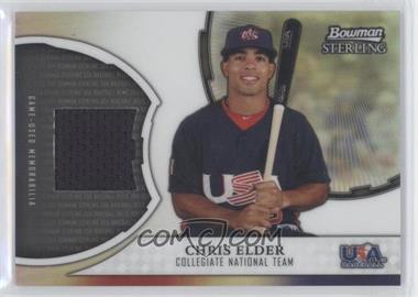 2011 Bowman Sterling - USA Baseball Collegiate National Team Relic Refractor #USAR-CE - Chris Elder