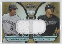 Carlos Gonzalez, Mike Stanton /50