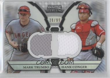 2011 Bowman Sterling Box Loader Dual Relics Refractors #DRB-TC - Mark Trumbo, Hank Conger /99