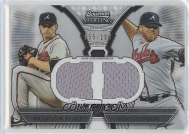 2011 Bowman Sterling Box Loader Dual Relics #DRB-BH - Brandon Beachy, Tommy Hanson