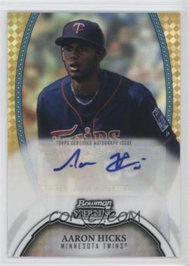 2011 Bowman Sterling MLB Future Stars Autographs Gold Refractor #BSP-AH - Aaron Hicks /50