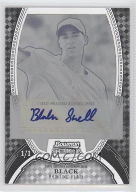 2011 Bowman Sterling MLB Future Stars Autographs Printing Plate Black #BSP-BS - Blake Snell /1