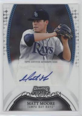 2011 Bowman Sterling MLB Future Stars Autographs #BSP-MMO - Matt Moore