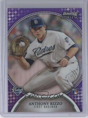 2011 Bowman Sterling Purple Refractor #20 - Anthony Rizzo /10
