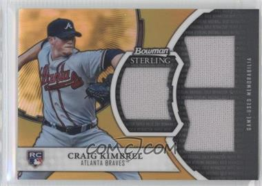 2011 Bowman Sterling Rookie Refractor Relics Triple Gold #GTR-CK - Craig Kimbrel /50