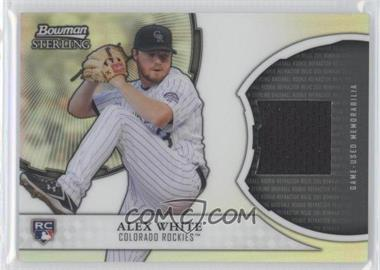 2011 Bowman Sterling Rookie Refractor Relics #RRR-AW - Alex White