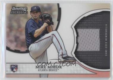 2011 Bowman Sterling Rookie Refractor Relics #RRR-MMI - Mike Minor