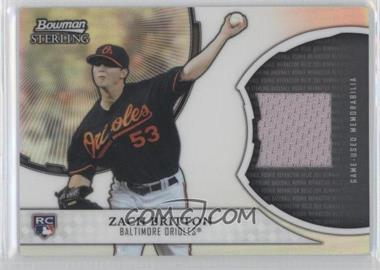 2011 Bowman Sterling Rookie Refractor Relics #RRR-ZB - Zach Britton