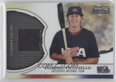 2011 Bowman Sterling USA Baseball Collegiate National Team Relics Refractors #USAR-DF - Dominic Ficociello