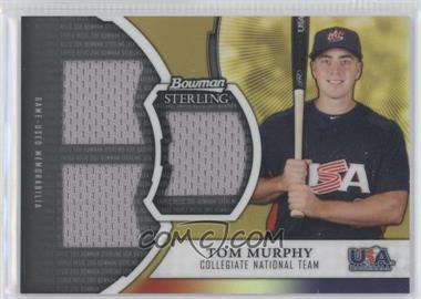2011 Bowman Sterling USA Baseball Collegiate National Team Relics Triple Gold Refractors #GTR-DF - Dominic Ficociello /50