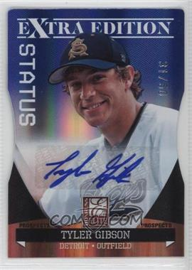 2011 Donruss Elite Extra Edition - Autographed Prospects - Blue Die-Cut Status #P-40 - Tyler Gibson /50