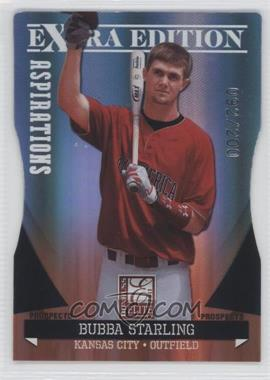 2011 Donruss Elite Extra Edition - Autographed Prospects - Die-Cut Aspirations Non-Autographed #P-10 - Bubba Starling /200