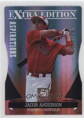 2011 Donruss Elite Extra Edition - Autographed Prospects - Die-Cut Aspirations Non-Autographed #P-28 - Jacob Anderson /200