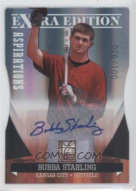 2011 Donruss Elite Extra Edition - Autographed Prospects - Die-Cut Aspirations #P-10 - Bubba Starling /100