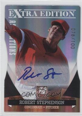 2011 Donruss Elite Extra Edition - Autographed Prospects - Die-Cut Aspirations #P-41 - Robert Stephenson /100