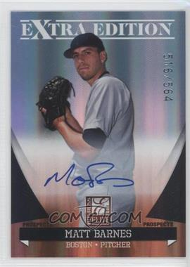 2011 Donruss Elite Extra Edition - Autographed Prospects #P-48 - Matt Barnes /564