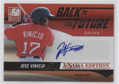 2011 Donruss Elite Extra Edition - Back to the Future Signatures #16 - Jose Vinicio /720