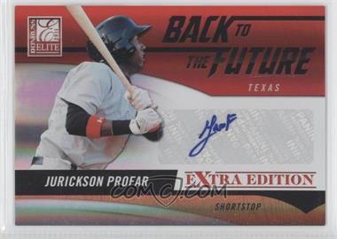 2011 Donruss Elite Extra Edition - Back to the Future Signatures #8 - Jurickson Profar /429