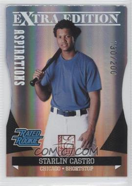2011 Donruss Elite Extra Edition - [Base] - Aspirations Die-Cut #11 - Starlin Castro /200
