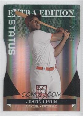 2011 Donruss Elite Extra Edition - [Base] - Emerald Status Die-Cut #8 - Justin Upton /25