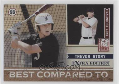 2011 Donruss Elite Extra Edition - Best Compared To #12 - Trevor Story, Troy Tulowitzki /499