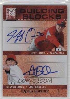 2011 Donruss Elite Extra Edition - Building Blocks Dual - Signatures [Autographed] #11 - Jeff Ames, Steven Ames /49