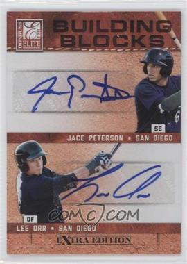 2011 Donruss Elite Extra Edition - Building Blocks Dual - Signatures [Autographed] #9 - Lee Orr, Jace Peterson /49