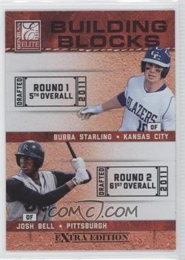 2011 Donruss Elite Extra Edition - Building Blocks Dual #1 - Bubba Starling, Josh Bell