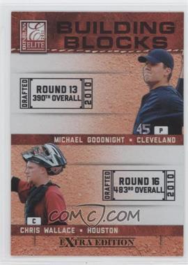 2011 Donruss Elite Extra Edition - Building Blocks Dual #13 - Chris Wallace, Michael Goodnight