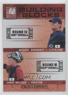 2011 Donruss Elite Extra Edition - Building Blocks Dual #13 - Chris Wallace, Michael Goodnight