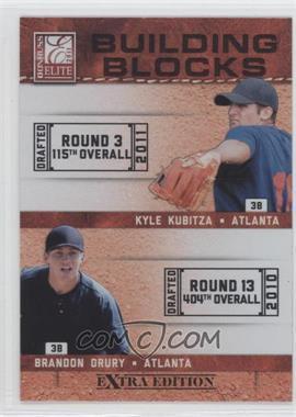 2011 Donruss Elite Extra Edition - Building Blocks Dual #2 - Kyle Kubitza, Brandon Drury