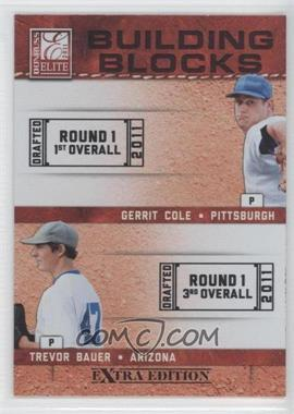 2011 Donruss Elite Extra Edition - Building Blocks Dual #3 - Gerrit Cole, Trevor Bauer