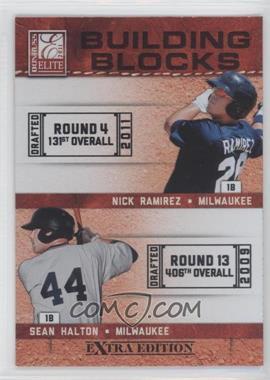2011 Donruss Elite Extra Edition - Building Blocks Dual #7 - Sean Halton, Nick Ramirez