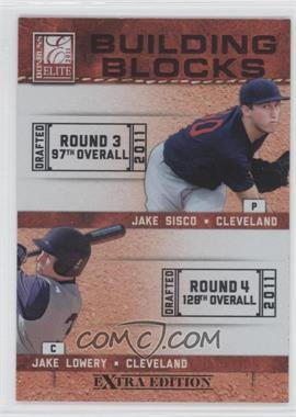 2011 Donruss Elite Extra Edition - Building Blocks Dual #8 - Jake Sisco, Jake Lowery