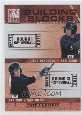 2011 Donruss Elite Extra Edition - Building Blocks Dual #9 - Lee Orr, Jace Peterson
