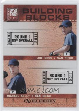 2011 Donruss Elite Extra Edition - Building Blocks Quads #10 - Austin Hedges, Jace Peterson, Michael Kelly, Joe Ross