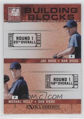 2011 Donruss Elite Extra Edition - Building Blocks Quads #10 - Austin Hedges, Jace Peterson, Michael Kelly, Joe Ross