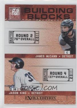 2011 Donruss Elite Extra Edition - Building Blocks Quads #3 - Brian Flynn, Jason King, James McCann, Jason Krizan